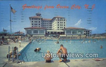 Hotel Handers & Outdoor Pools - Ocean City, New Jersey NJ Postcard