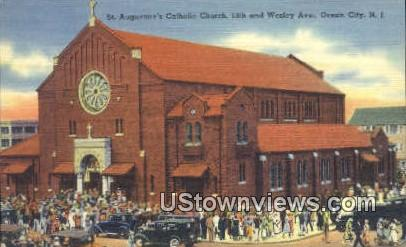 St Augustine's Catholic Church - Ocean City, New Jersey NJ Postcard