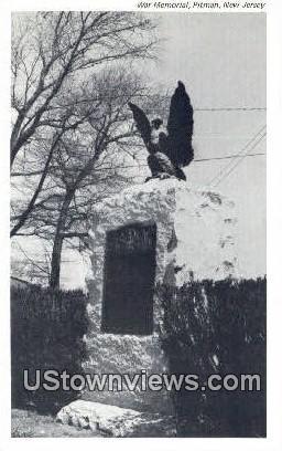 War Memorial - Pitman, New Jersey NJ Postcard
