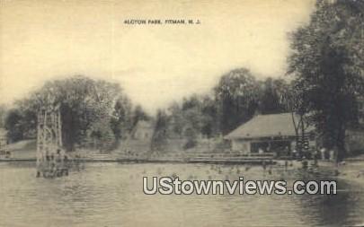 Alcyon Lake - Pitman, New Jersey NJ Postcard