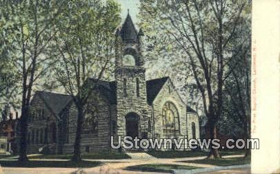 First Baptist Church - Lakewood, New Jersey NJ Postcard