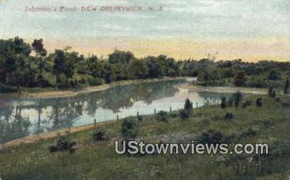 Johnson's Pond - New Brunswick, New Jersey NJ Postcard