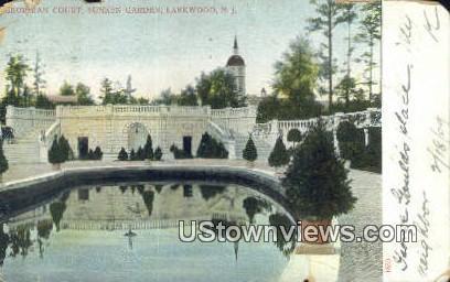 Georgian Court, Sunken Garden - Lakewood, New Jersey NJ Postcard