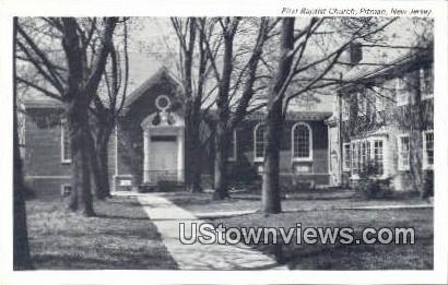 First Baptist Church - Pitman, New Jersey NJ Postcard