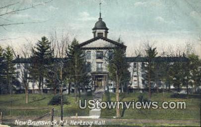 Hertzog Hall - New Brunswick, New Jersey NJ Postcard
