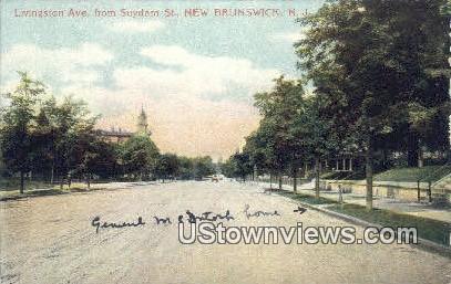 Livingston Ave - New Brunswick, New Jersey NJ Postcard