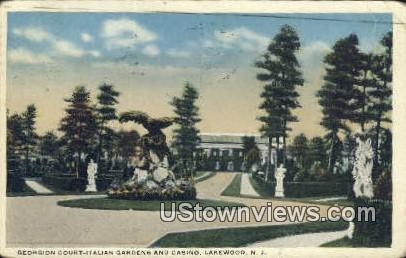 Georgiaon Court Italian Gardens - Lakewood, New Jersey NJ Postcard