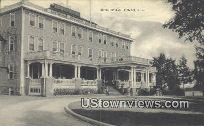 Hotel Pitman - New Jersey NJ Postcard