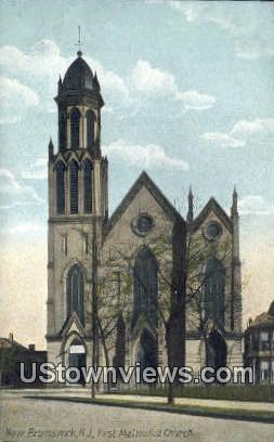 First Methodist Church - New Brunswick, New Jersey NJ Postcard