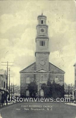 First Reformed Church - New Brunswick, New Jersey NJ Postcard