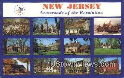 Crossraods of the Revolution - Misc, New Jersey NJ Postcard