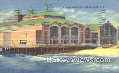Casino, Pier - Asbury Park, New Jersey NJ Postcard