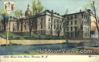 State House, River - Trenton, New Jersey NJ Postcard