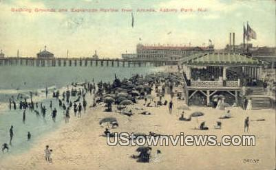 Esplanade Review, Arcade - Asbury Park, New Jersey NJ Postcard