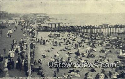 Boardwalk, Beach & Fishing Pier - Asbury Park, New Jersey NJ Postcard