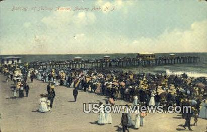 Bathing, Asbury Ave - Asbury Park, New Jersey NJ Postcard