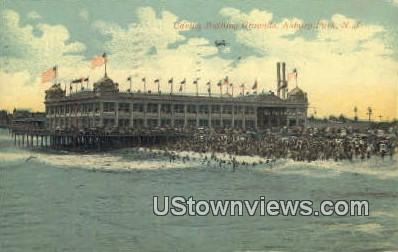Casino Bathing Grounds - Asbury Park, New Jersey NJ Postcard