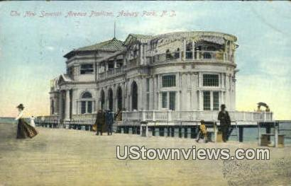 New Seventh Ave Pavilion - Asbury Park, New Jersey NJ Postcard