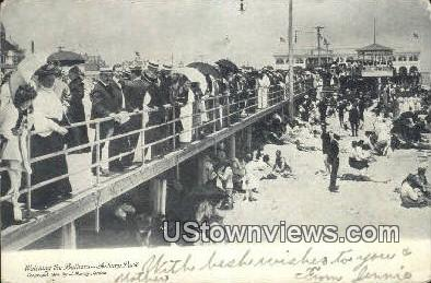 Watching the Bathers - Asbury Park, New Jersey NJ Postcard