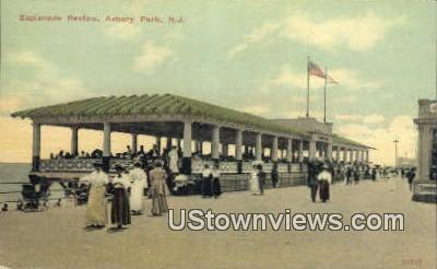 Esplanade Review - Asbury Park, New Jersey NJ Postcard