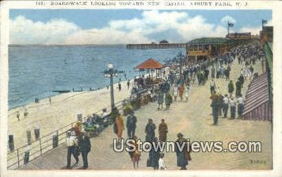 Boardwalk, New Casino - Asbury Park, New Jersey NJ Postcard