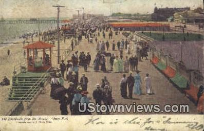 Boardwalk, Casino - Asbury Park, New Jersey NJ Postcard