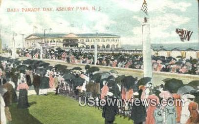 Baby Parade Day - Asbury Park, New Jersey NJ Postcard