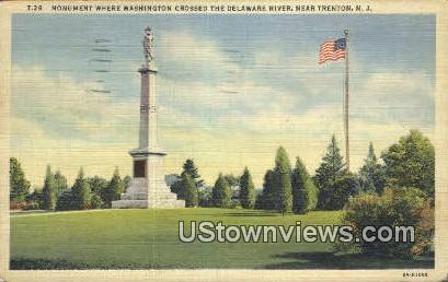 Washington Crossed Deleware River - Trenton, New Jersey NJ Postcard
