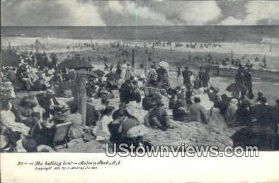 Bathing Hour - Asbury Park, New Jersey NJ Postcard