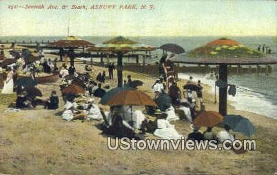 Seventh Ave & Beach - Asbury Park, New Jersey NJ Postcard