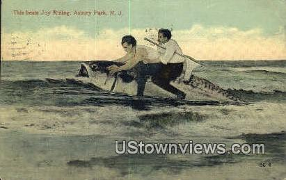 Beats Joy Riding - Asbury Park, New Jersey NJ Postcard