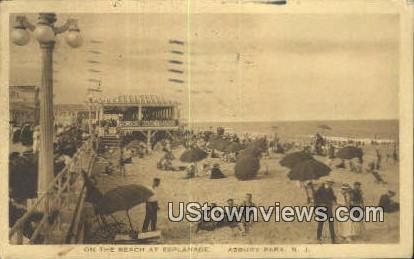 Beach at Esplanade - Asbury Park, New Jersey NJ Postcard