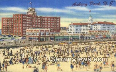 Berkeley Carteret & Monterey Hotels - Asbury Park, New Jersey NJ Postcard