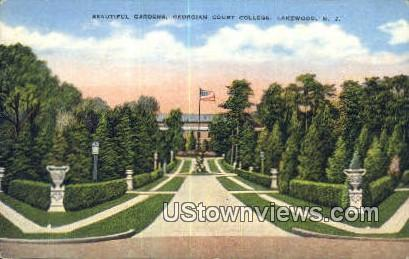 Gardens, Georgian Court College - Lakewood, New Jersey NJ Postcard