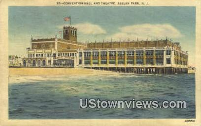 Convention Hall & Theatre - Asbury Park, New Jersey NJ Postcard