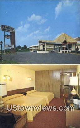 Freehold motor Motel - New Jersey NJ Postcard