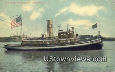 Fire Boat Hudson - Elizabeth, New Jersey NJ Postcard