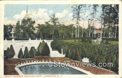 Sunken Gardens, Georgian Court - Lakewood, New Jersey NJ Postcard