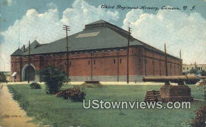 Third Regiment Armory - Camden, New Jersey NJ Postcard