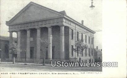 First Presbyterian Church - New Brunswick, New Jersey NJ Postcard