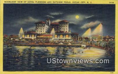 Hotel Flanders - Ocean City, New Jersey NJ Postcard