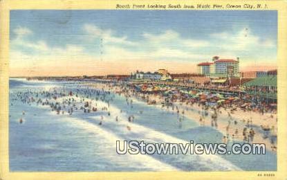 Beach Front, Music Pier - Ocean City, New Jersey NJ Postcard