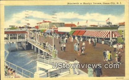Boardwalk, Moorlyn Terrace - Ocean City, New Jersey NJ Postcard