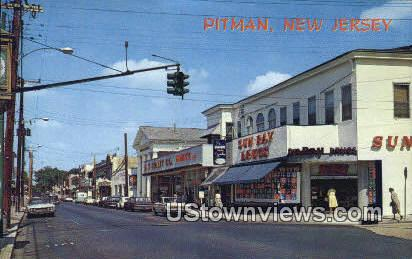 South Broadway - Pitman, New Jersey NJ Postcard