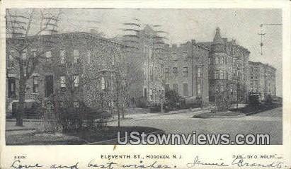 Eleventh Street - Hoboken, New Jersey NJ Postcard
