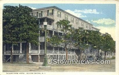Ocean View Hotel - Ocean Grove, New Jersey NJ Postcard
