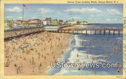 Ocean Front - Ocean Grove, New Jersey NJ Postcard