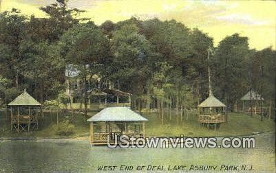 West End of Deal Lake - Asbury Park, New Jersey NJ Postcard