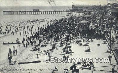 Bathing, Boardwalk - Asbury Park, New Jersey NJ Postcard