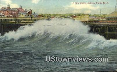 High Wave - Asbury Park, New Jersey NJ Postcard